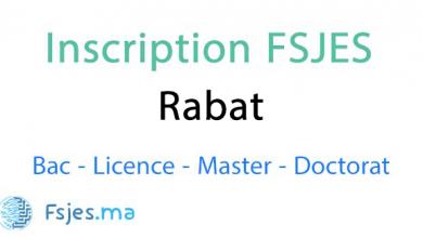 inscription FSJES Rabat Agdal 2020-2021