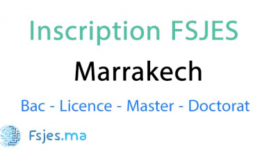inscription FSJES Marrakech doctorat 2020-2021