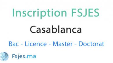 inscription FSJES Aïn Sebâa Casablanca 2020-2021