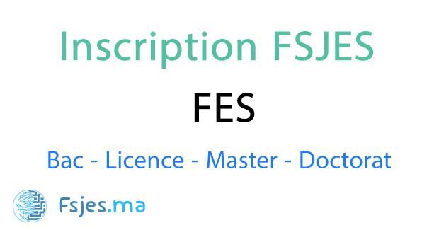 inscription FSJES Fes 2020-2021